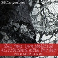 13th Year: Lace Wedding Anniversary Gifts for Her