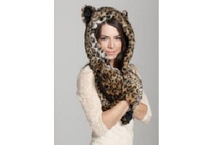 Faux Fur Hood Animal Hats
