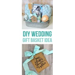 Absorbing Diy Gifts Ideas This Diy Wedding Gift Basket Idea Has A Shower Me Includes Bath Towels A Diy Wedding Gifts Couple Guests Diy Wedding Gifts