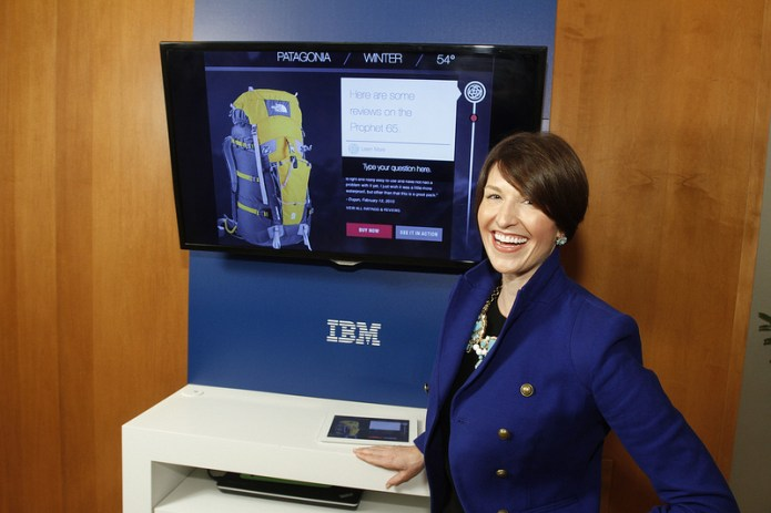 A prototype of The North Face's Watson-powered shopping assistant. Source: IBM