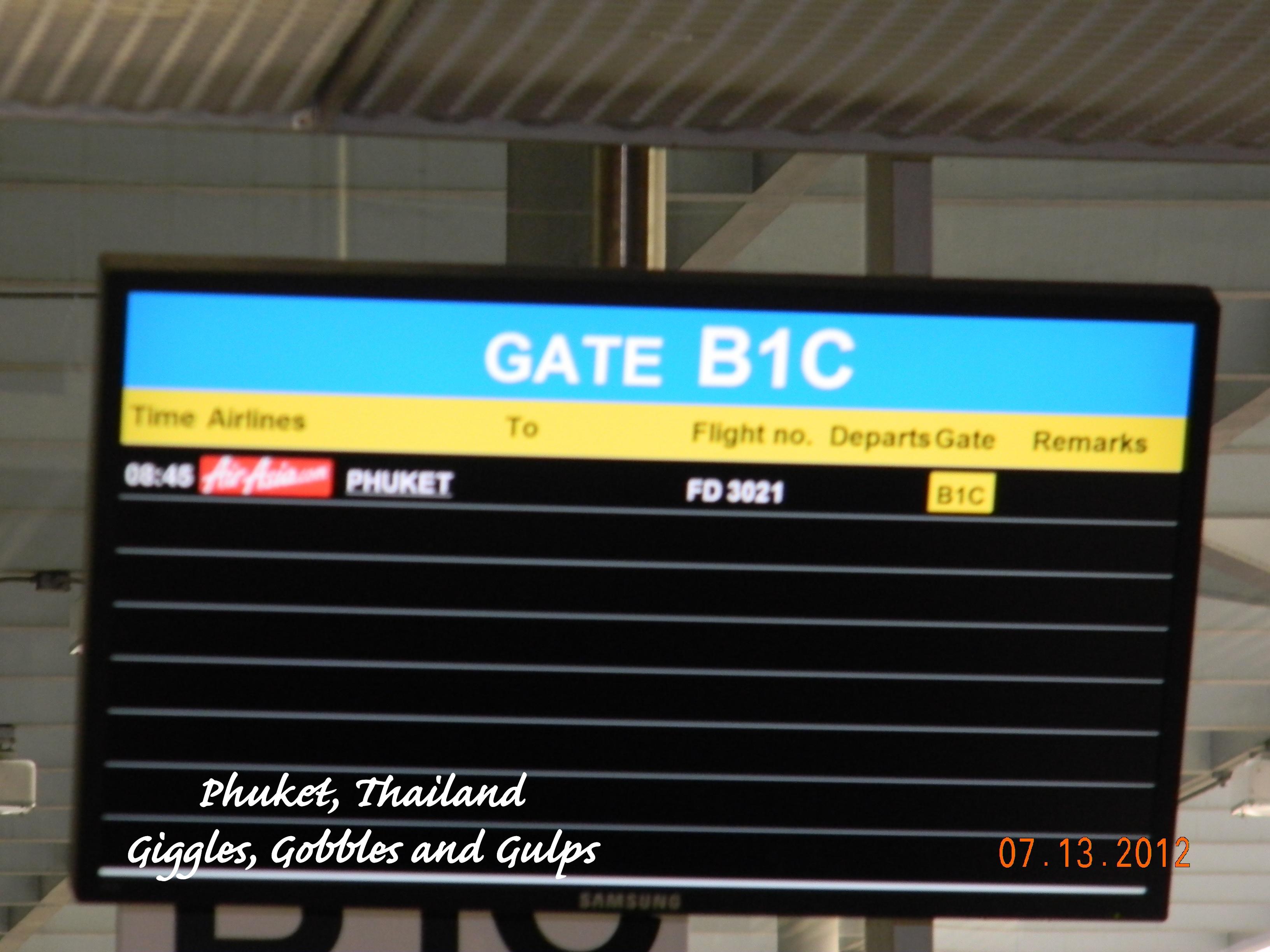 Air Asia flight to Phuket, Thailand