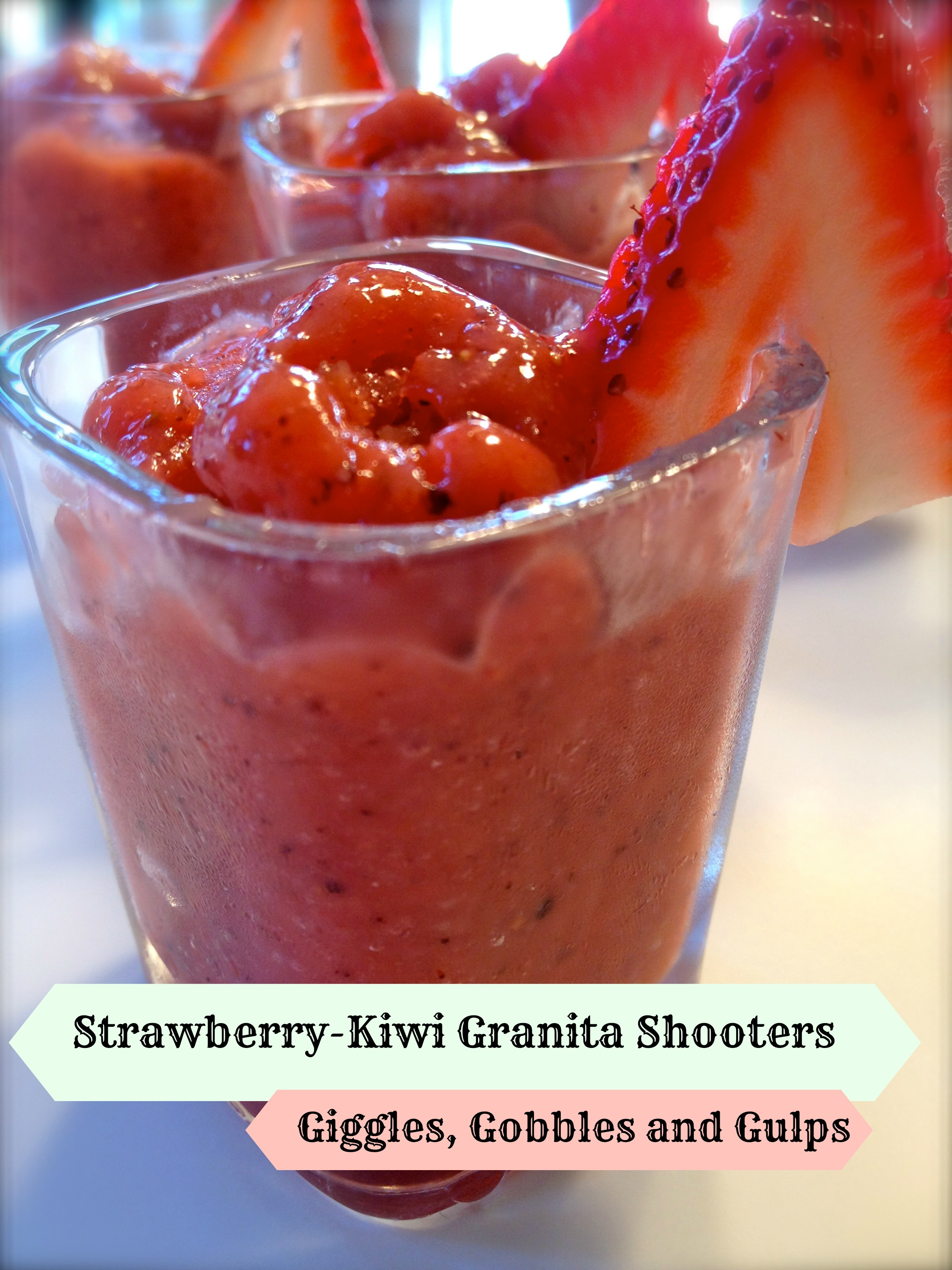 Strawberry-Kiwi Granita Dessert Shooter Recipe - Giggles, Gobbles and ...
