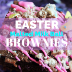 Easter Malted Milk Ball Brownies