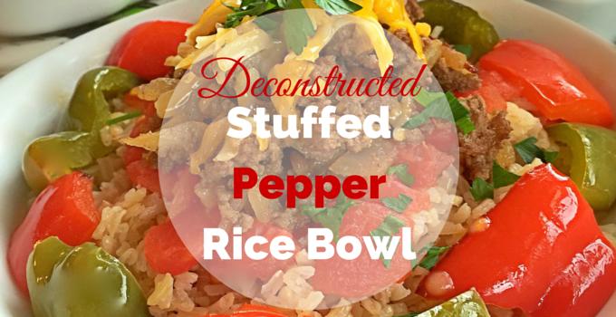 Deconstructed Stuffed Pepper Rice Bowl