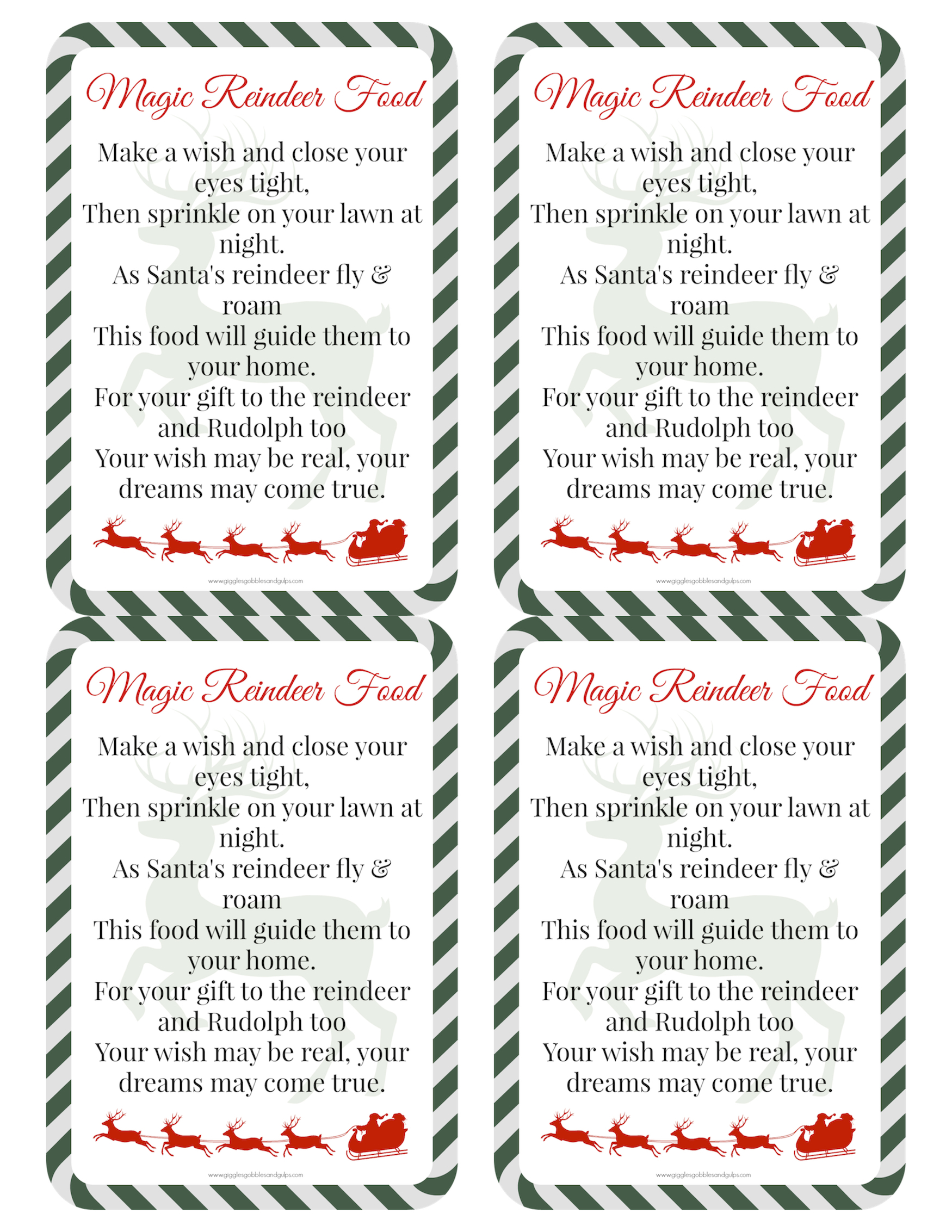 Magic Reindeer Food Recipe And Poem