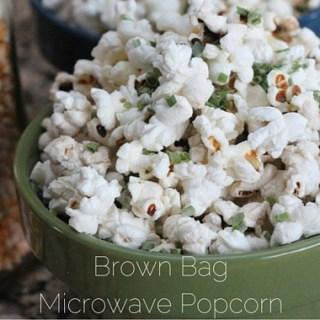 Brown Bag Microwave Popcorn