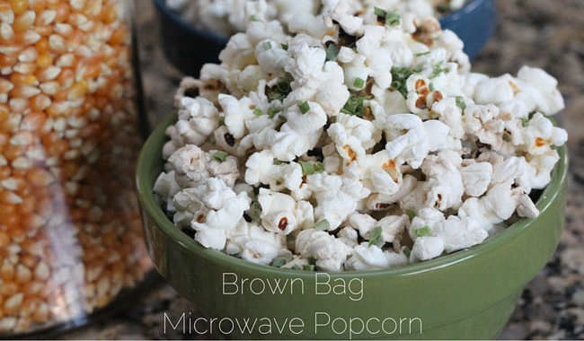 Brown Bag Microwave Popcorn | Mini Chef Mondays