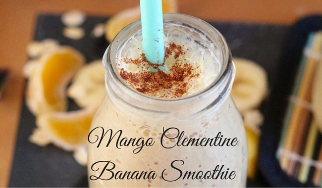 Mango Clementine Banana Smoothie | Mini Chef Mondays