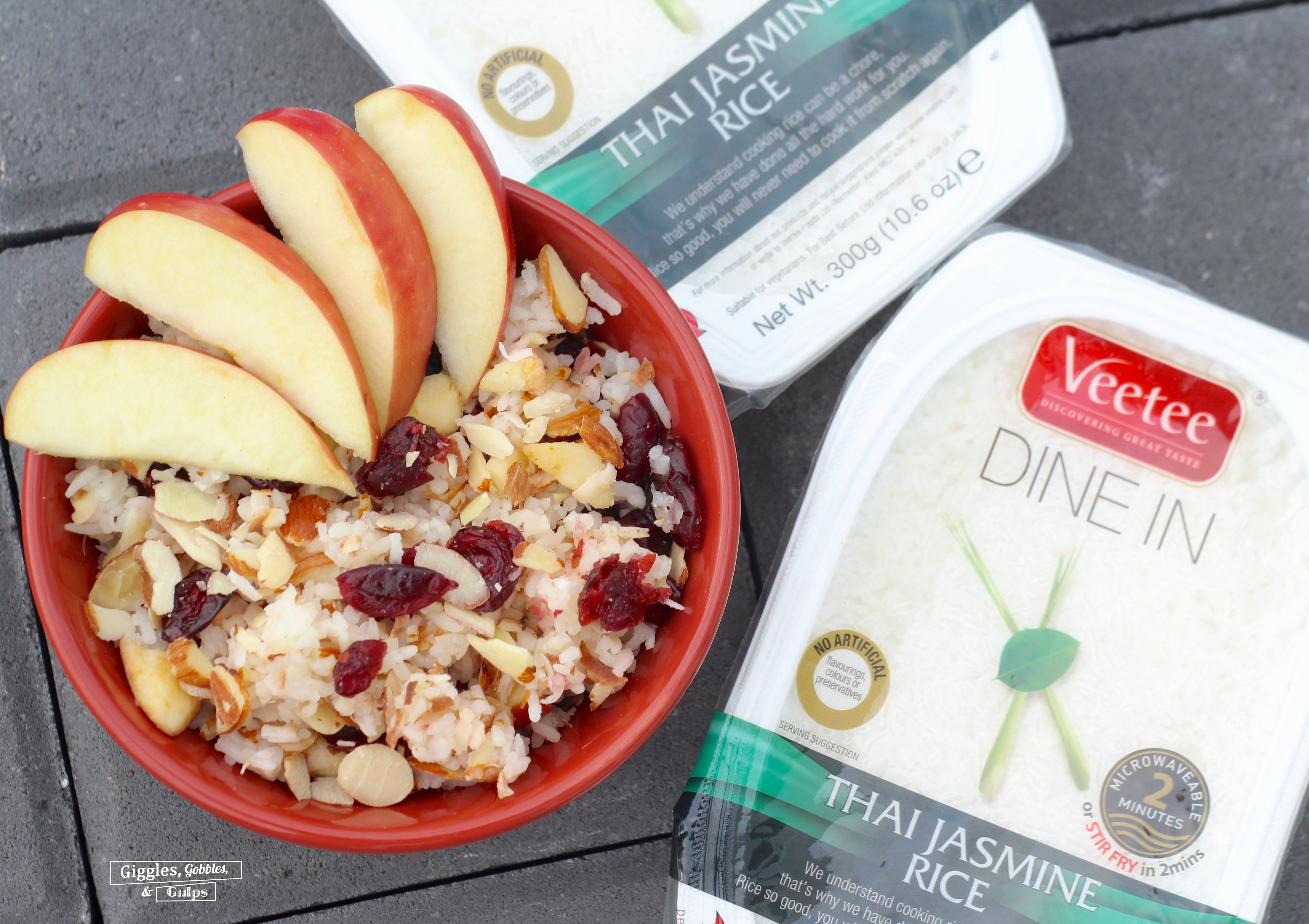 basmati rice apples cranberries almonds coconut