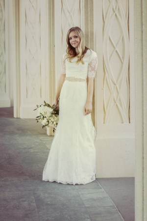 Bride at LDS Gilbert Temple Photo