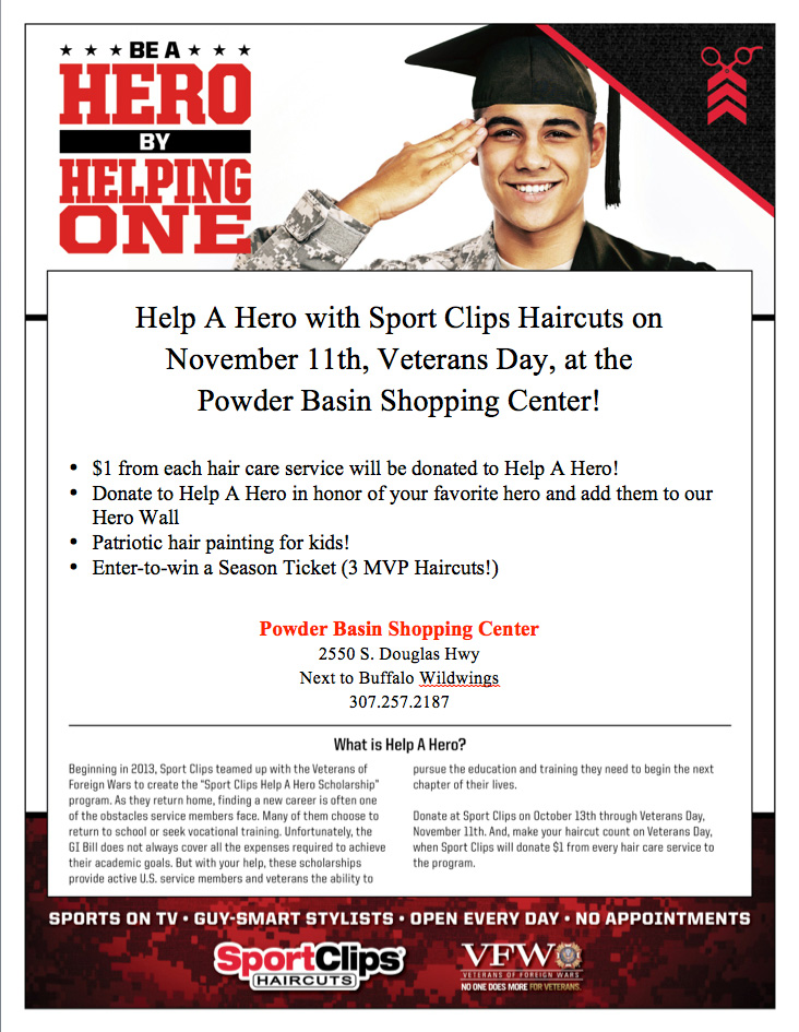 sport clips help a hero veterans day