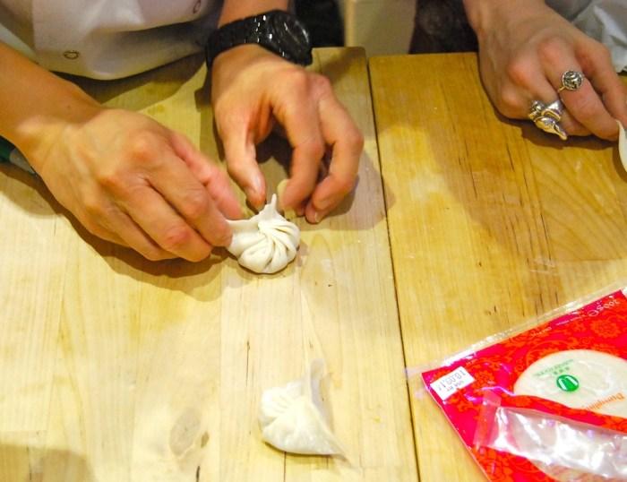 Korean kimchi dumplings