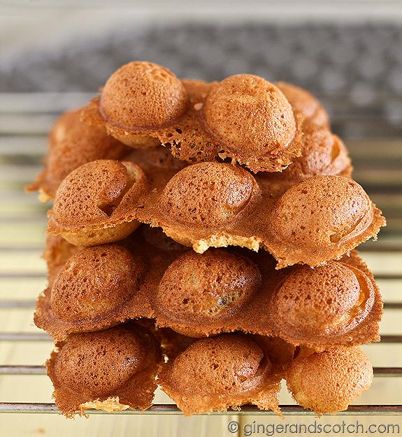 How to Make a Popular HK Street Snack - Hong Kong Egg Cakes or Eggettes (Gai Daan Jai)