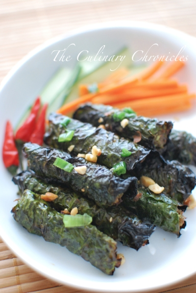 Thit Bò Nuong Lá Lot (Vietnamese Grilled Beef Wrapped in Betel Leaves)