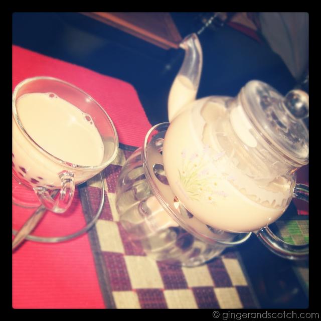 Hot Jasmine Bubble Tea @ Sino Chai - Dubai