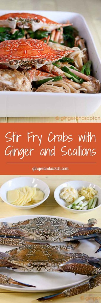 Stir Fry Crabs with Ginger and Scallions - Ginger and Scotch