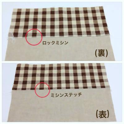 2枚の布を縫い合わせる