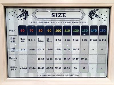 corvaサイズ表