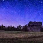 La maison abandonnée... sous les étoiles