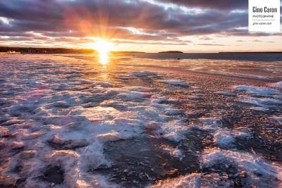 Début de la glace à Rimouski