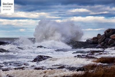 Belles vagues à Ste-Luce