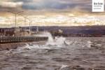 Belles vagues à Rimouski
