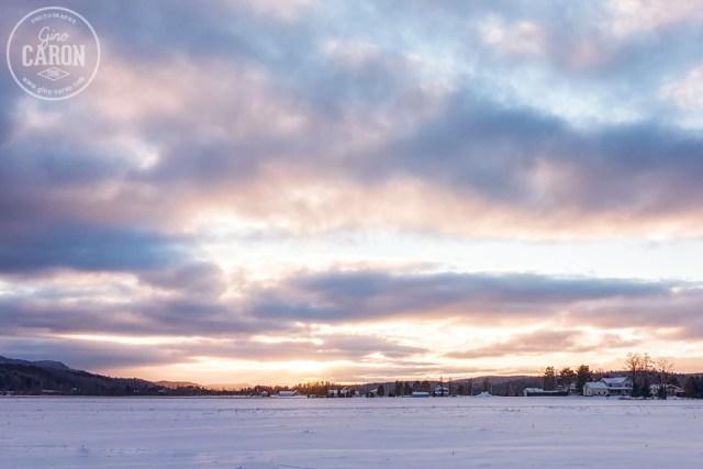 Doux coucher de soleil hivernal