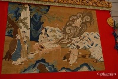 kakkyo yama taoist immortal flying dragon textile gion festival kyoto japan