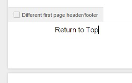 Footer that says Return to Top