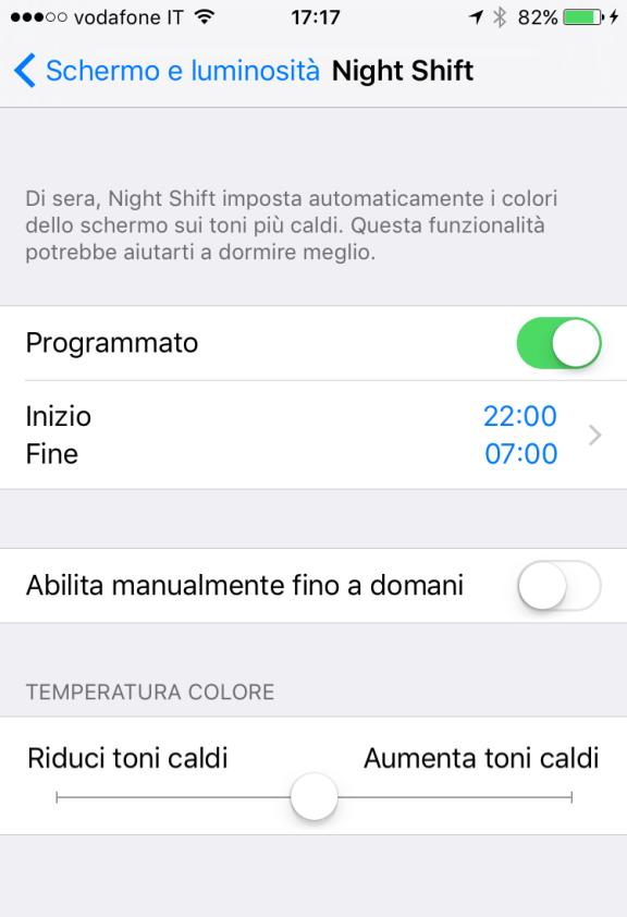 4 settimane per 4 app: Filtro Luce Blu 2