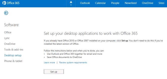 Office365-DesktopSetup
