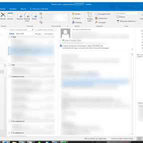 Outlook: comandi contestuali mail fuori posto? Touch Mode 1