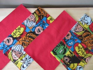 Marvel fabric, perfect for a pencil case for a 12 year old