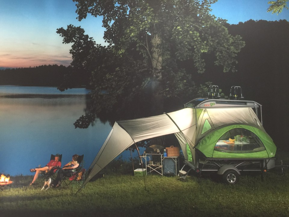 "The ""Go!"" trailer by Sylvansport has so much flexibility for campers and weighs less than 900 #'s."