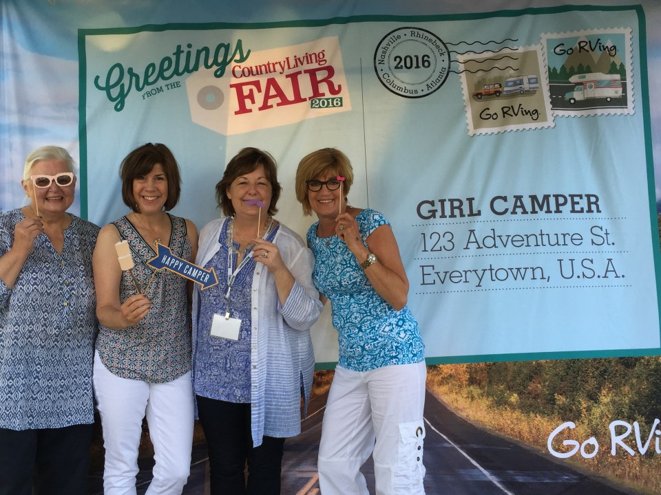 Katie and friends stopped by and immediately joined the Girl Camper Meetup (Camp Like a Girl) and signed up for a big trip! You don't have to tell these girls twice!