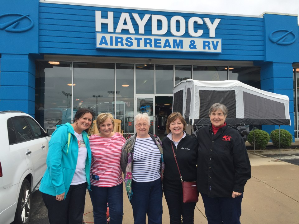 Our next Camper College event is at Haydocy Airstream on Friday, September 16, 2016 from 5-8 pm. Sign up at MeetUp.com - Camp Like A Girl group.