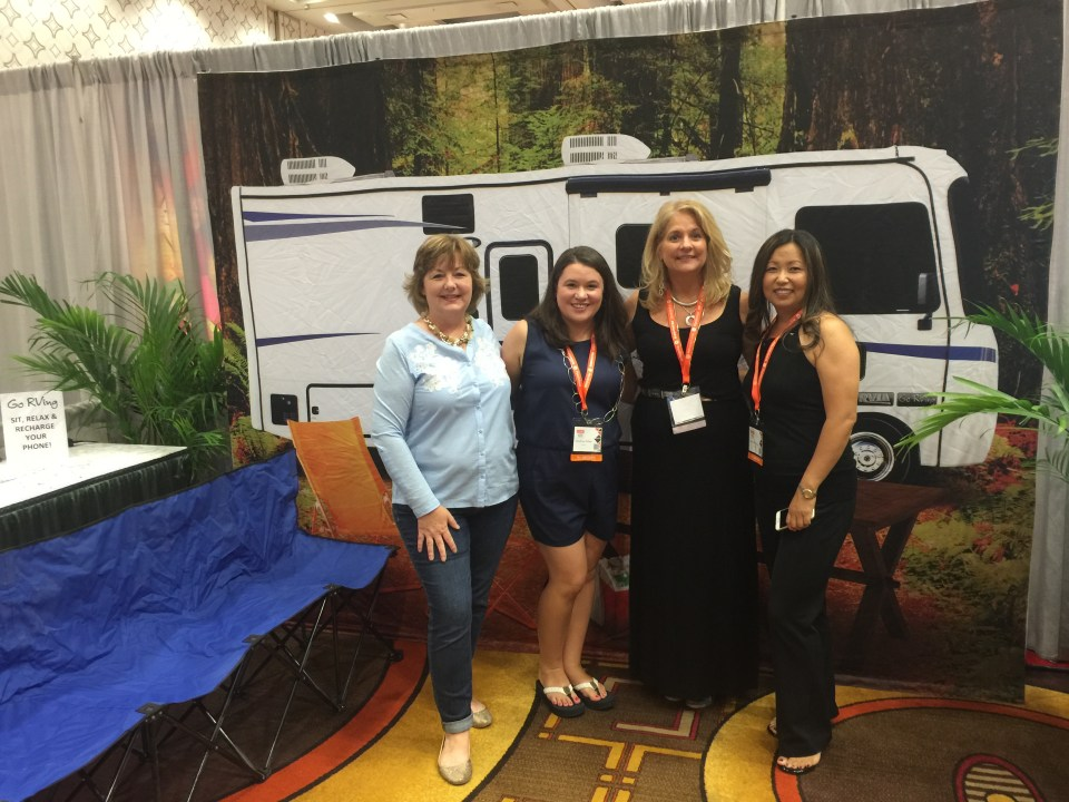 The Go RVing team at Blog Her at the J W Marriott LA Live.