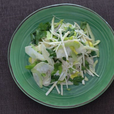 the sound of one hand chopping – celery root salad