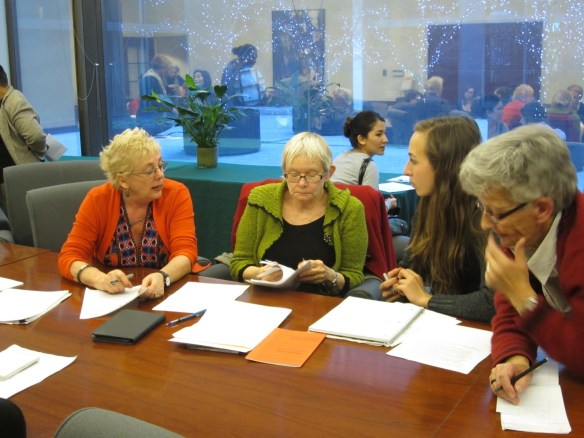 WGG Members at work preparing new Advocacy Sheets