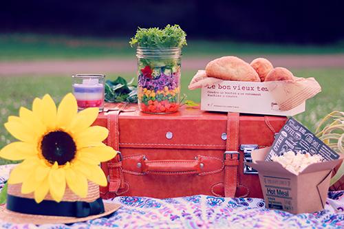 芝生の上で、おしゃれピクニック #おしゃピクのフリー写真素材(商用可)