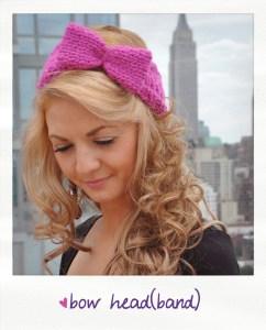 bow head bow headband free knitting pattern