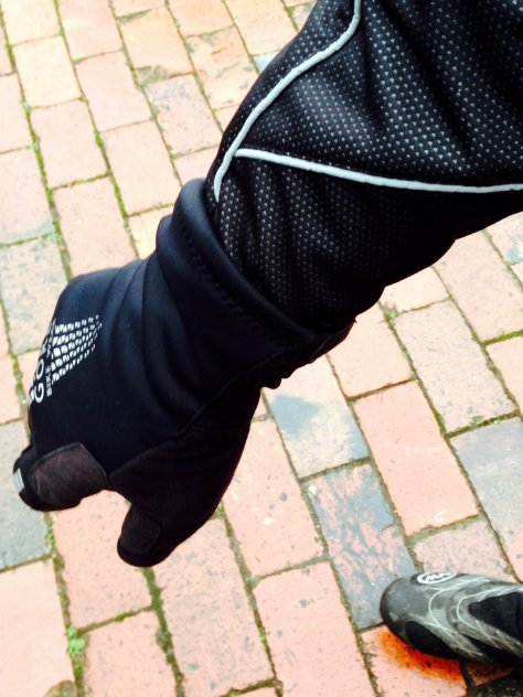 Reflective piping extends down the sleeve to help give visibility when signalling