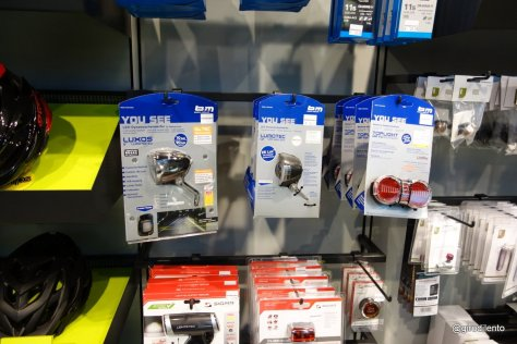 Dynamo lights - not something you'd expect to see in your average UK bike shop!