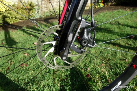 Flat mount fork with post mount adapter