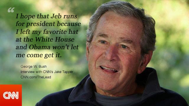 Bush on Obama – CNN [PIC]