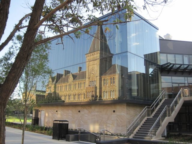The new curtain wall at Newington College