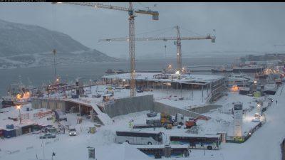 Utbyggingen av Prostneset terminal (Foto: Tromsø Havn KF)