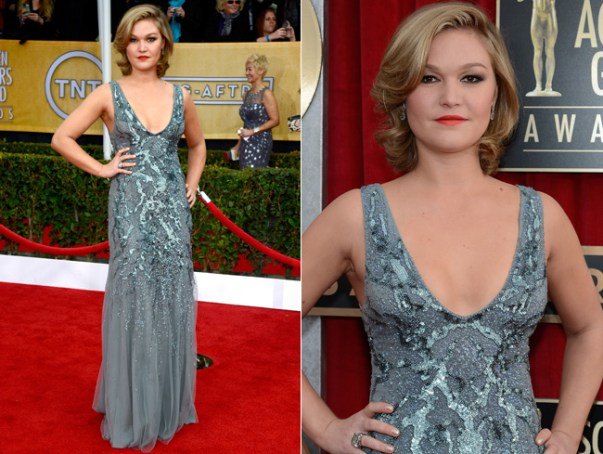 Julia Stiles in Amen Couture