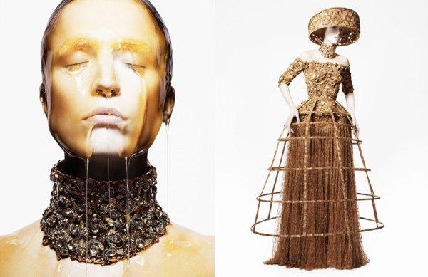 Raquel Zimmermann for Alexander McQueen Spring 2013 Campaign