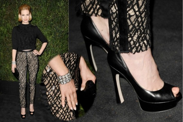January Jones in Chanel - 2013 Chanel Pre-Oscar Dinner